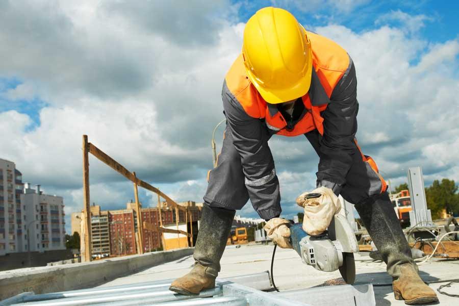 skilled tradesman working
